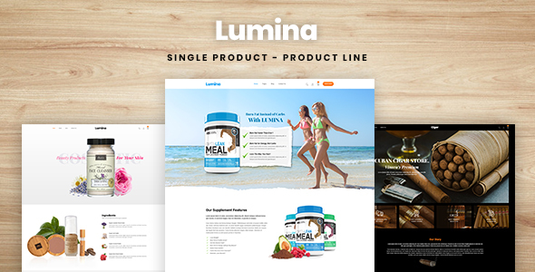 Lumina - Single Product, Product Line Shopify Theme - Health & Beauty Shopify