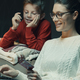 Mother and son doing online shopping together - PhotoDune Item for Sale