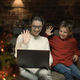 Mother and son having a video call at Christmas - PhotoDune Item for Sale