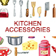 Watercolor Kitchen Accessories Set - GraphicRiver Item for Sale