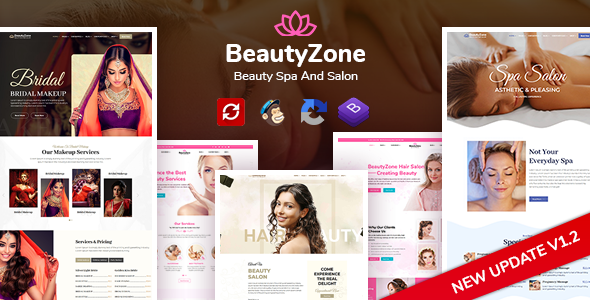 Wonderful BeautyZone: Beauty Spa Salon & Massage HTML Template
