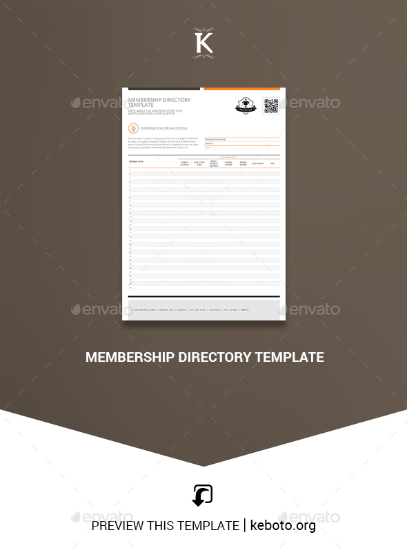 membership directory template by keboto graphicriver