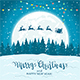 Santa and Reindeer on Christmas Background - GraphicRiver Item for Sale