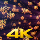 Christmas Golden Snowflakes 1 - VideoHive Item for Sale