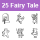 Free Download Fairy Tale II Outlines Vector Icons Nulled