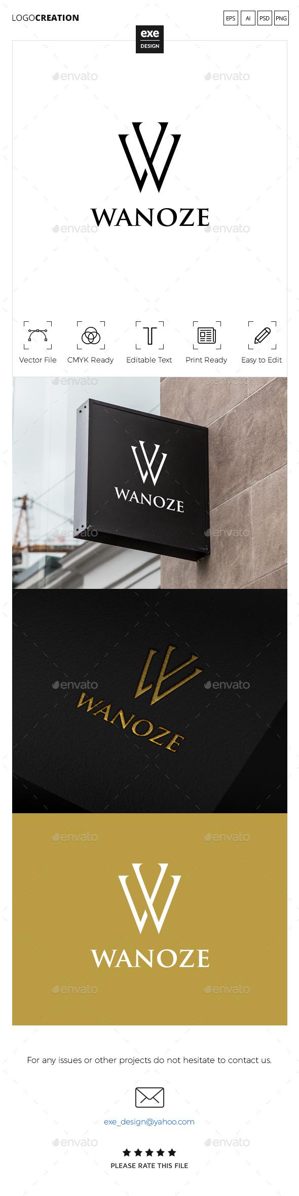 Letter W Logo - Letters Logo Templates