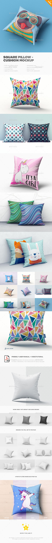 Square Pillow / Cushion MockUp
