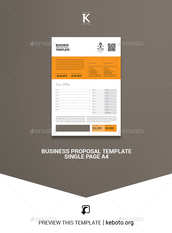 Indesign Proposal Graphics Designs Templates