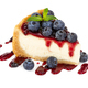 Piece of cheesecake with blueberries and mint - PhotoDune Item for Sale