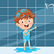 Vector Illustration of Kid Bathing - GraphicRiver Item for Sale