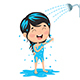 Free Download Vector Illustration of Kid Bathing Nulled