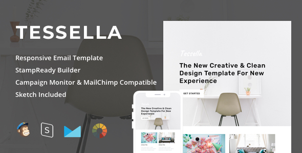 Tessella - Responsive Email + StampReady Builder - Newsletters Email Templates