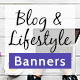 Free Download Blog & Lifestyle Web Banner Set Nulled