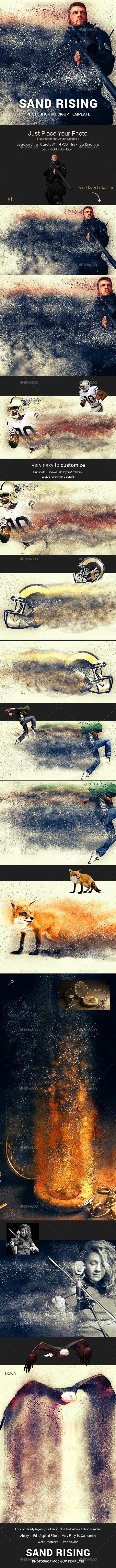 Sand Dispersion Photoshop Template Mock-Ups - Artistic Photo Templates