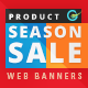 Product Holiday Sale Web Banner Set - GraphicRiver Item for Sale