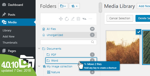 WordPress Real Media Library - Media Categories / Folders File Manager Nulled