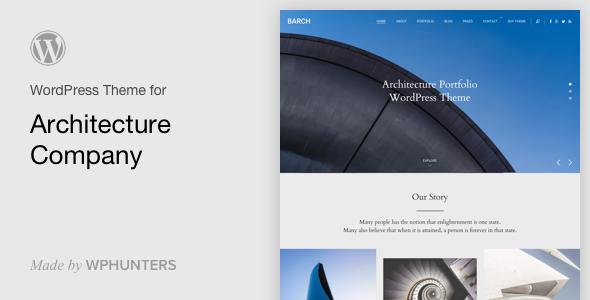 Barch - Architecture Portfolio WordPress Theme - Portfolio Creative