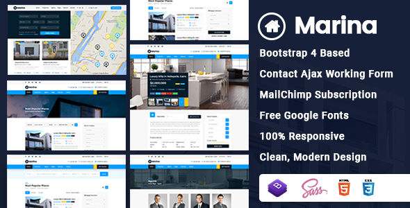 Marina - Real Estate HTML Template - Business Corporate
