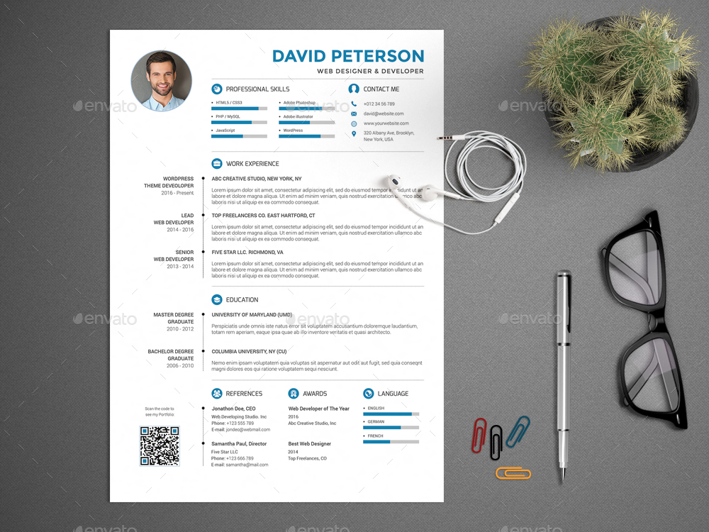 resume cv set by profive