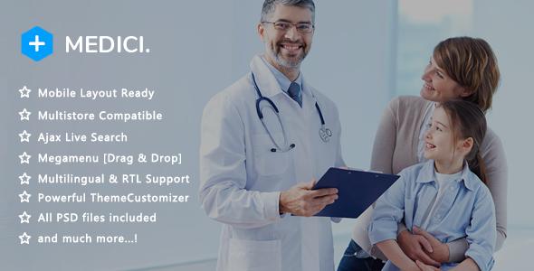 Medici - Medical Pharmacy and Healthcare Clinic PrestaShop 1.7 Theme - Health & Beauty PrestaShop