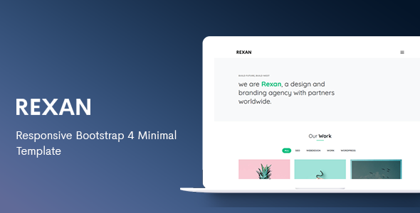 Rexan - Responsive Bootstrap 4 Minimal Template by ThemesBoss