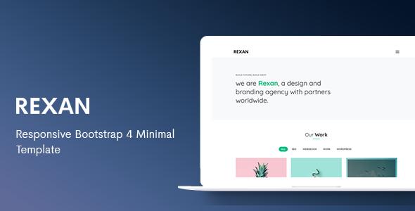 Rexan - Responsive Bootstrap 4 Minimal Template
