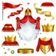 Royal Attributes and Symbols Realistic Vector Set - GraphicRiver Item for Sale