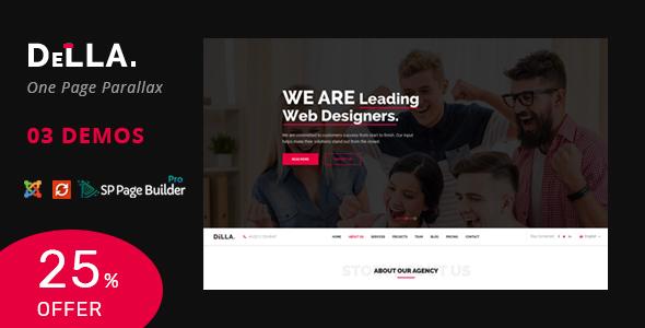 Della – One Page Joomla Template for Digital Agency