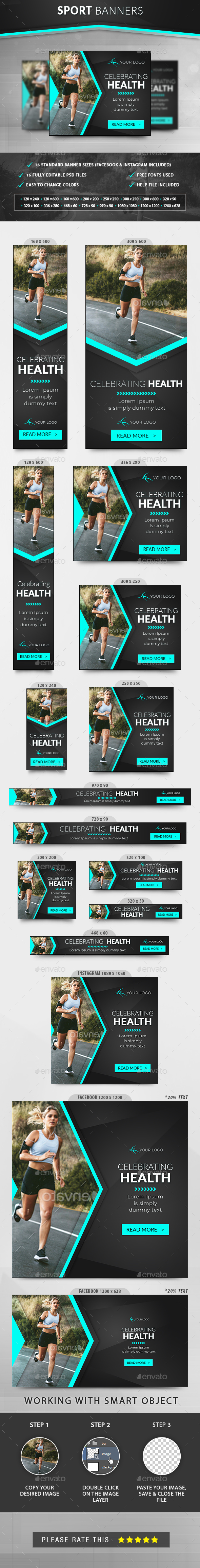 Sport Banners - Banners & Ads Web Elements