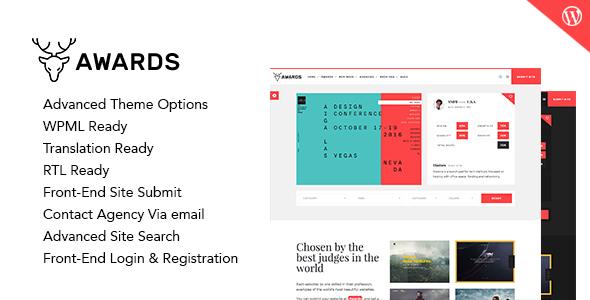 Awards - Gallery Nominees Website Showcase Responsive WordPress Theme - Directory & Listings Corporate