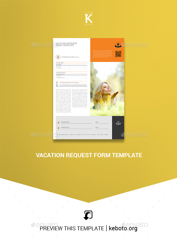 Vacation Request Form Template - Miscellaneous Print Templates