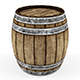 Lowpoly model Old wooden barrel. - 3DOcean Item for Sale
