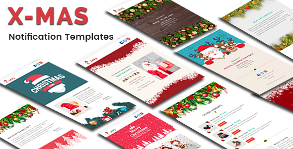 X-MAS - Responsive Newsletter and Notification Template with Stampready Builder Access - Email Templates Marketing