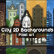2D Game City Backgrounds Pixel Art - GraphicRiver Item for Sale