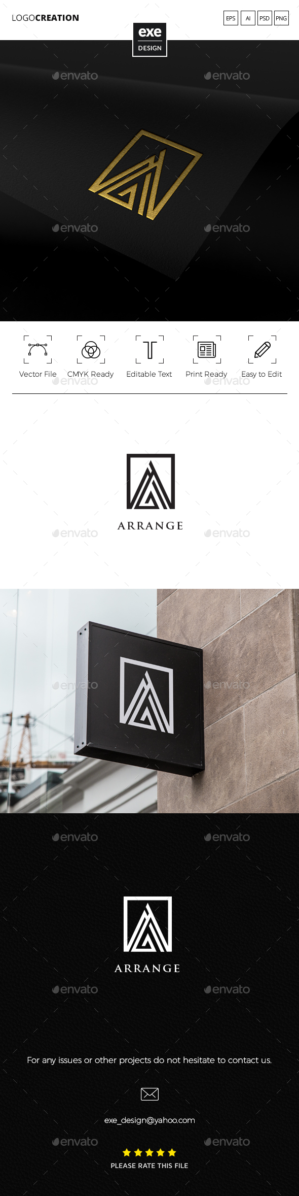 Abstract Letter A Logo - Letters Logo Templates