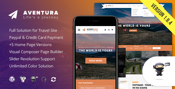 Aventura - Travel & Tour Booking System WordPress Theme - Travel Retail