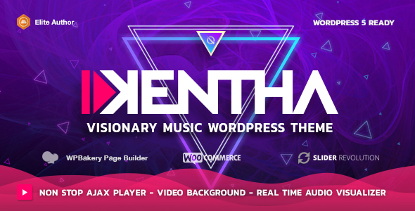Kentha — Visionary Music WordPress Theme - Music and Bands Entertainment