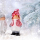 Christmas decorations little figure boy and girl on a background - PhotoDune Item for Sale