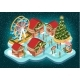 Free Download Christmas Fair with Buildings and Ferris Vector Nulled