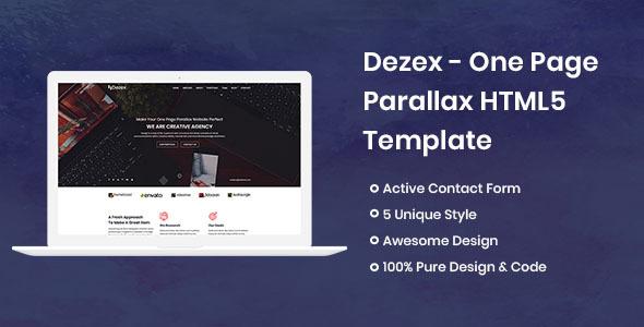 Dezex - One Page Parallax - Portfolio Creative