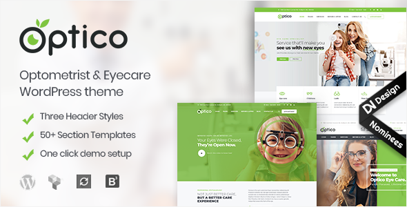 Optico   Optometrist & Eyecare WordPress Theme - Health & Beauty Retail