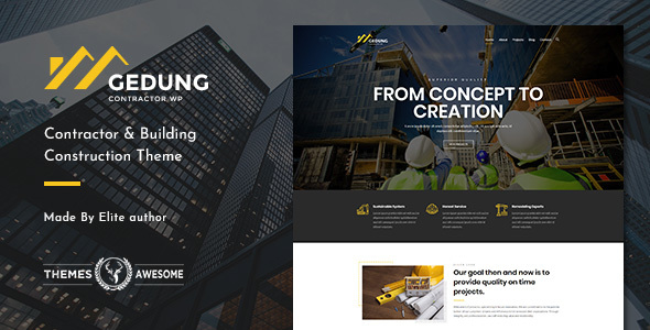 Gedung   Contractor & Building Construction Theme - Business Corporate