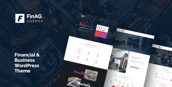 Finag - Creative &  Finance Agency WordPress Theme - WordPress