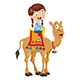 Vector Illustration of Kid Riding Camel - GraphicRiver Item for Sale