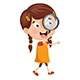 Vector Illustration of Kid With Magnifier - GraphicRiver Item for Sale