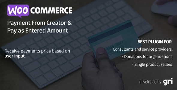 WooCommerce Payment Form Creator & Pay as Entered Amount - CodeCanyon Item for Sale