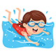 Vector Illustration of Kid Swimming - GraphicRiver Item for Sale