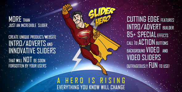 Slider Hero with Animation Effects, Video Background, Video Slider & Intro Maker - CodeCanyon Item for Sale