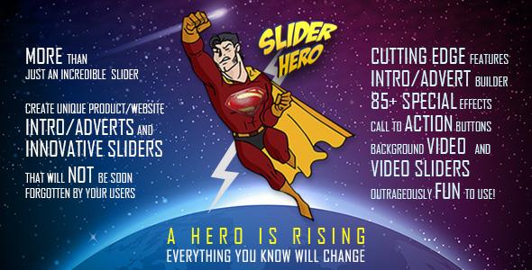 Slider Hero With Animation Effects Video Background Video Slider