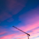 Construction crane over sunset sky - PhotoDune Item for Sale